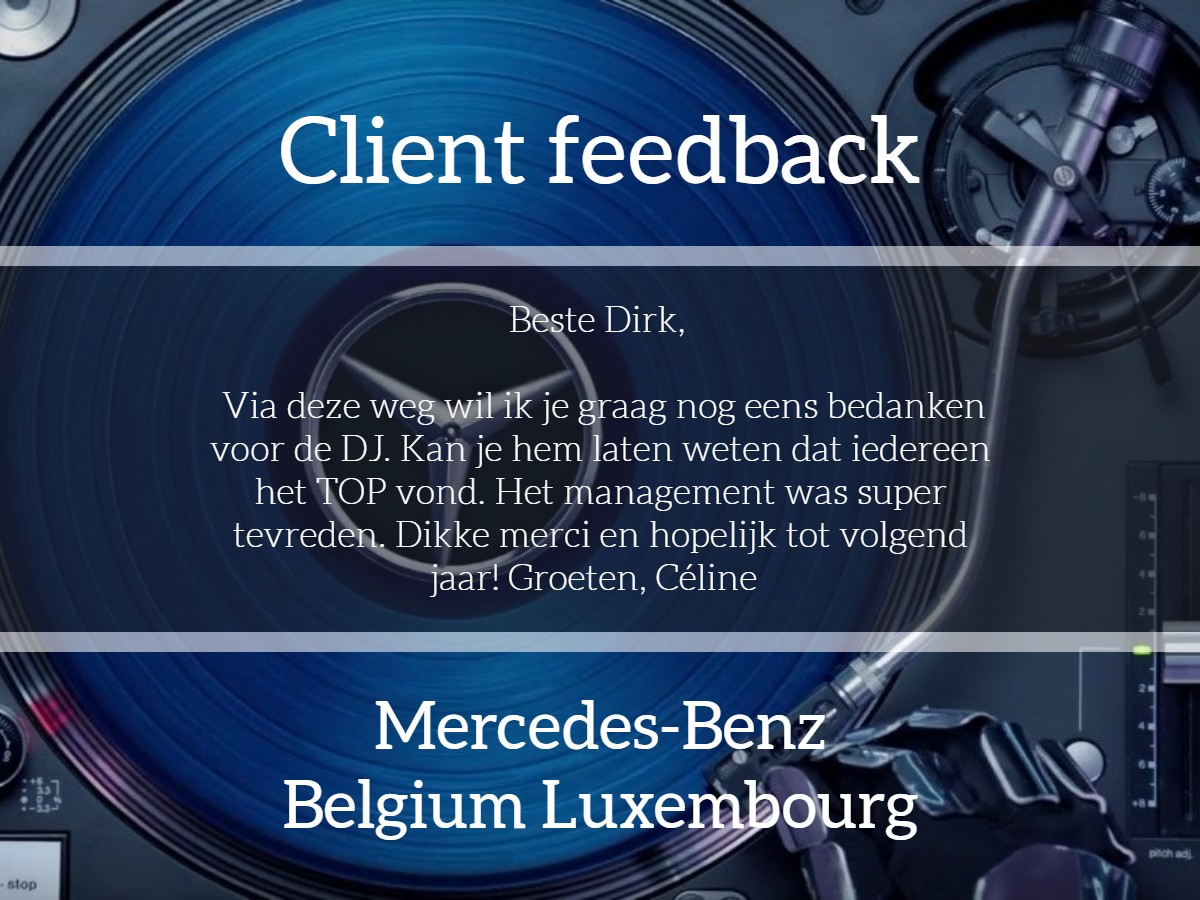 Client feedback Mercedes-Benz
